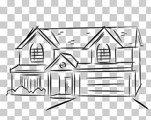 Drawing Line Art House Sketch PNG