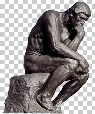 The Thinker Bronze Sculpture Statue PNG