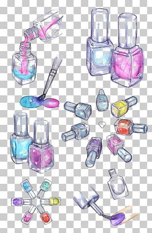 Nail Polish Drawing Cosmetics Watercolor Painting PNG