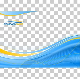Blue Background With Wavy Lines PNG