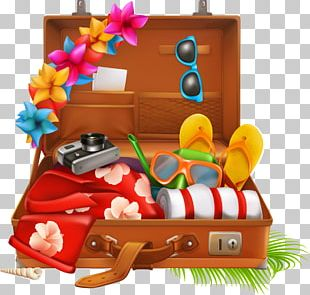 Suitcase Travel Vacation Baggage PNG
