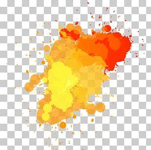 Watercolor Painting Art Splatter Painting PNG