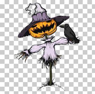 Jack-o-lantern Scarecrow Cartoon Illustration PNG