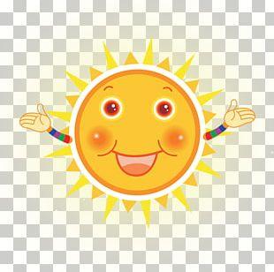 Smiley Color Cartoon Sun PNG