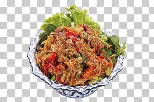 Thai Cuisine Fast Food Chicken Salad Vinaigrette PNG