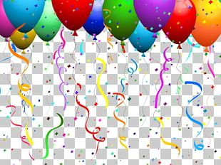 Balloon Confetti Party PNG