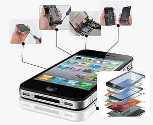 Mobile Phone Repair Material PNG