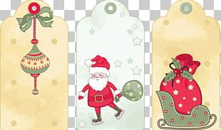 Santa Claus Paper Gift New Year Christmas PNG