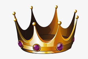 Gold Crown Material PNG