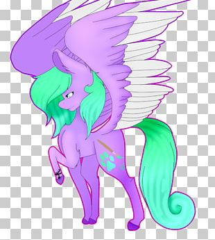 Horse Fairy Illustration Green PNG