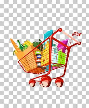 Shopping Cart Grocery Store Food PNG