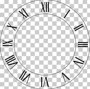 Clock Face Roman Numerals PNG
