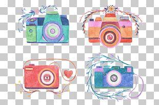 Camera Watercolor Painting Photography Drawing PNG