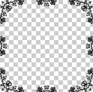 Black And White Frames Rose PNG