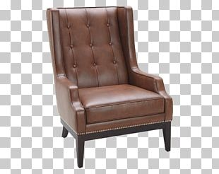 Club Chair Couch Wing Chair Foot Rests PNG
