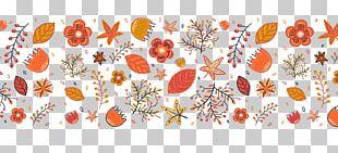 Cartoon Autumn Flowers PNG