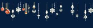Christmas Snowflake Christmas Balls Creative PNG