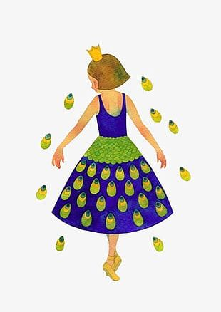 Peacock Princess Free To Pull The Material PNG