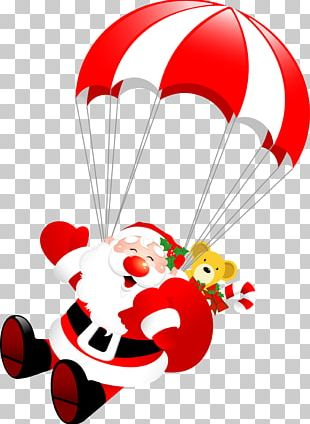 Santa Claus Parachute Christmas Parachuting PNG
