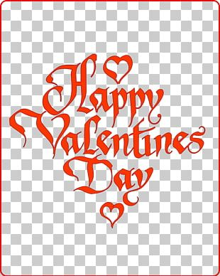 Valentines Day Holiday Heart Greeting Card PNG