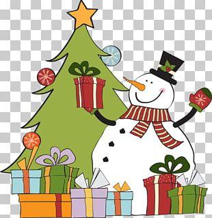 Christmas Gift Snowman PNG