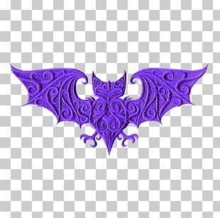 Bat Purple Pattern PNG