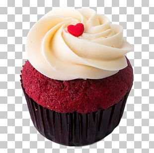 Red Velvet Cake Cupcake Frosting & Icing Cream Cheese PNG