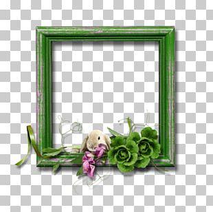 Border Flowers Green Frame PNG