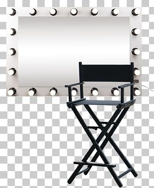 Table Folding Chair Director's Chair Furniture PNG