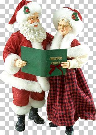 Santa Claus Mrs. Claus Père Noël Christmas Ornament PNG