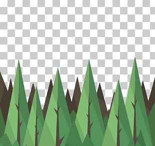 Tree Euclidean Triangle Green PNG