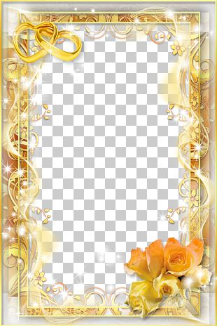 Wedding Invitation Frame PNG