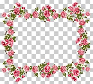 Borders And Frames Flower Rose Floral Design PNG