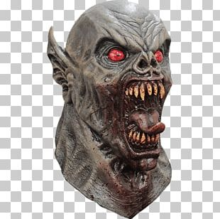 Latex Mask Ghoul Halloween Costume Demon PNG