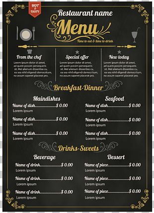 Menu Hotel Recipe PNG