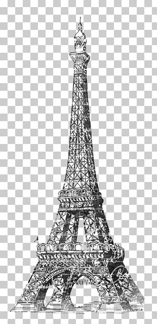 Eiffel Tower Paper Bridal Shower PNG