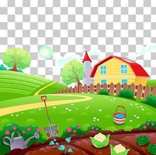 Farm Cartoon Drawing Illustration PNG