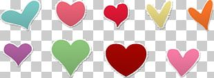 Paper Heart Sticker Decal PNG
