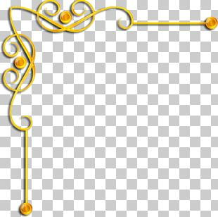 Borders And Frames Gold PNG