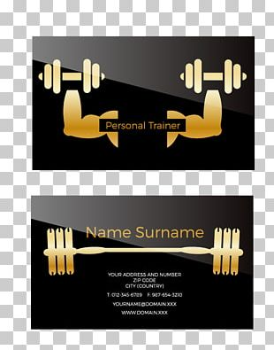 Personal Trainer Business Card Euclidean PNG
