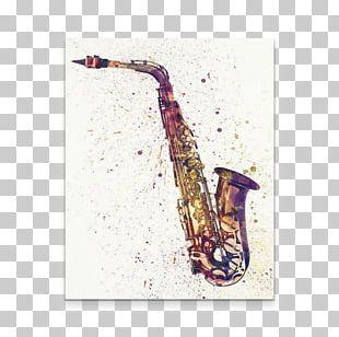 Saxophone Canvas Print Art Watercolor Painting PNG