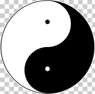 Yin And Yang Symbol Taijitu Taoism PNG