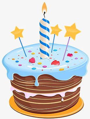 Cartoon Birthday Cake PNG