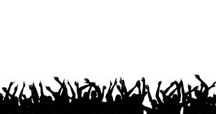 Chroma Key Crowd Dance Silhouette Stock Footage PNG