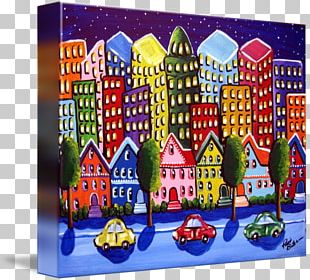 Canvas Print Art Painting Gallery Wrap PNG