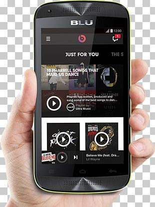 Feature Phone Smartphone Blu Dash Music Jr D390 Unlocked GSM Dual-SIM Android Phone PNG