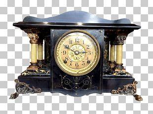 Mantel Clock Antique Fireplace Mantel Garniture PNG