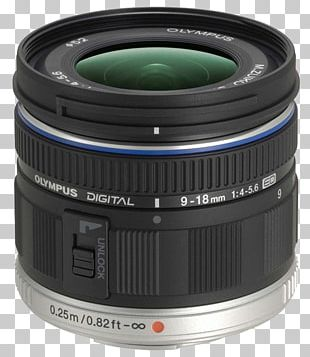 Olympus M.Zuiko Digital ED 9-18mm F/4-5.6 Micro Four Thirds System Wide-angle Lens PNG