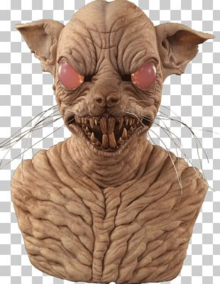 Sphynx Cat Rat Mask Face Character PNG