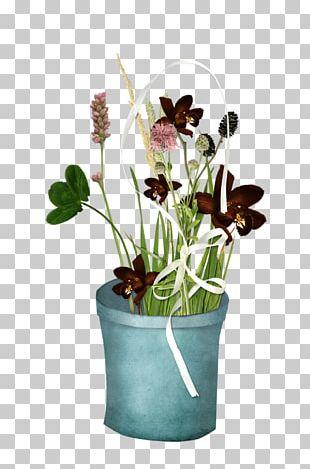 Cut Flowers Garden Roses Flowerpot PNG